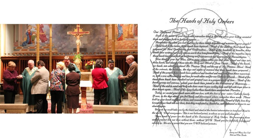 Praying of the Hands of Holy Orders