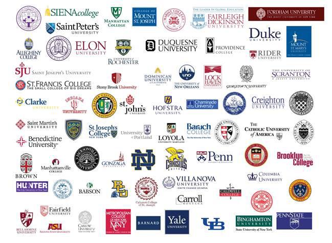 College Logos For Catholic Alumni Reception