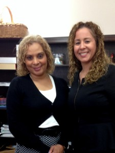 Assemblywoman Davila and Marian Hernandez, Principal at Queen of the Rosary Catholic Academy.