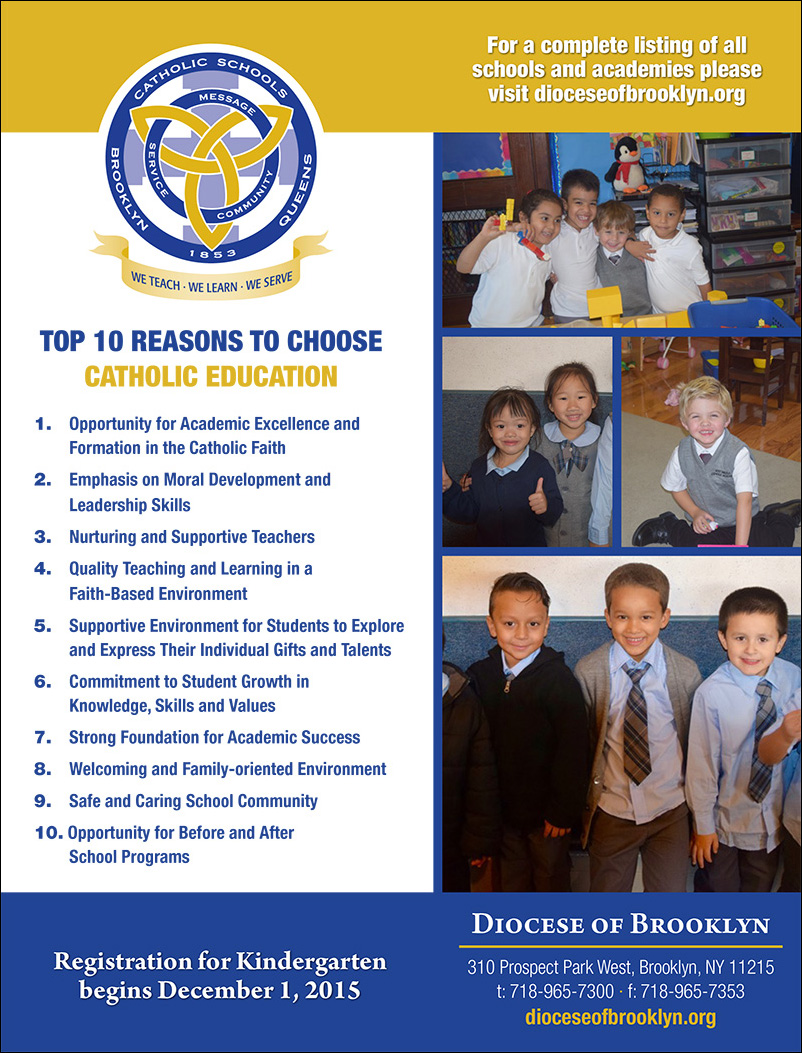 Top 10 Reasons to Choose Catholic Education