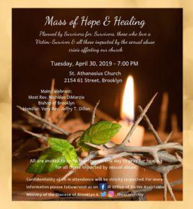 Mass of hope & Healing invitation