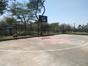 Basketball court in Kenya